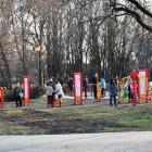 Siłownia plenerowa w Parku Kombatantów