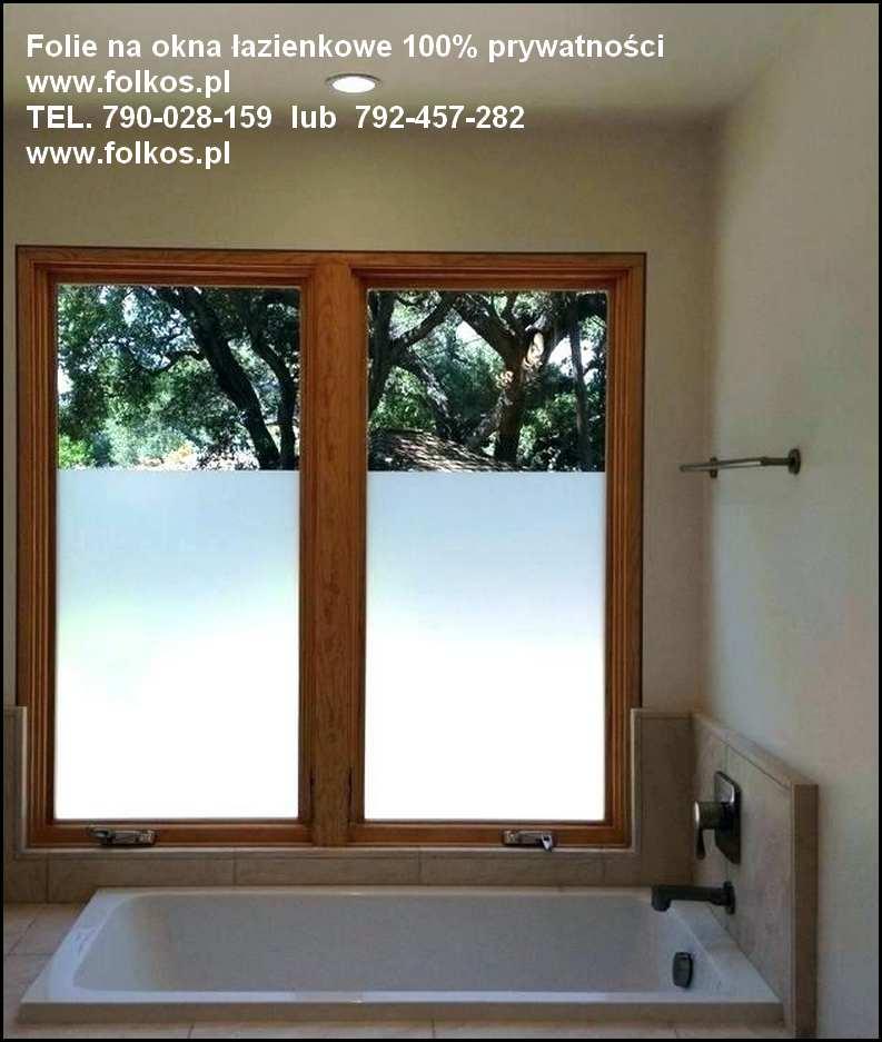 Zasłaniamy Okno W łazience Folia Zapewniająca 100